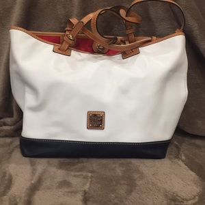 Dooney & Bourke smooth leather Tote Hangbag-Lee